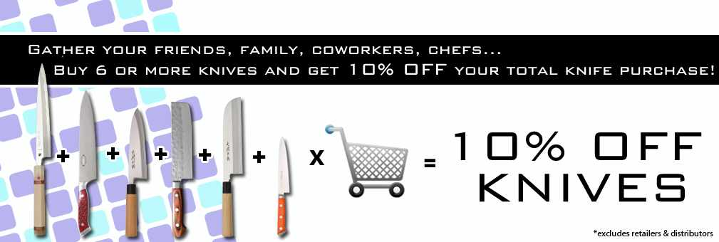 Buy 6knives save 10%