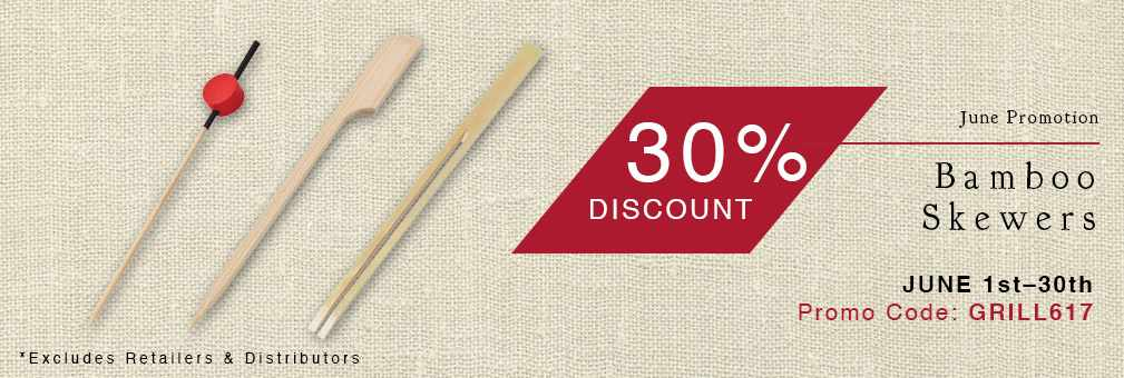 30% Off Bamboo Skewers